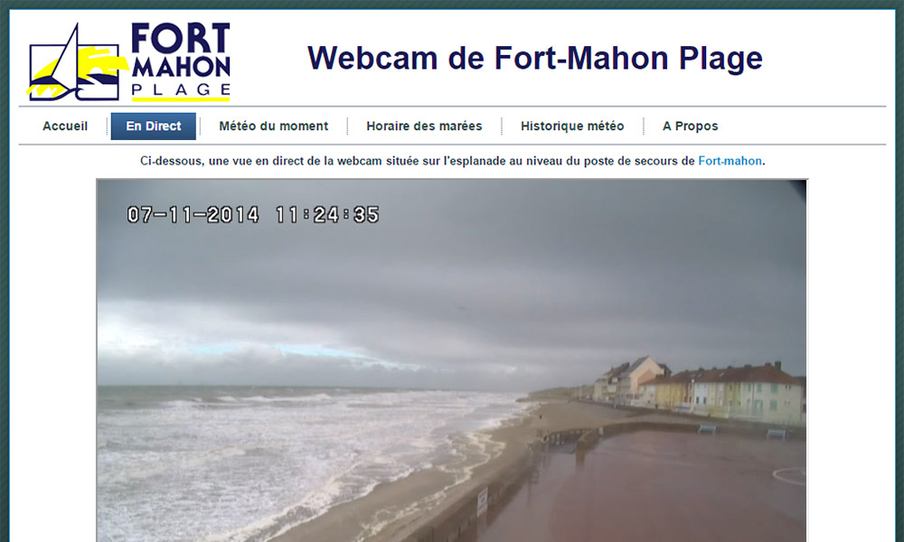 capture d'écran de www.fortmahon.webcam