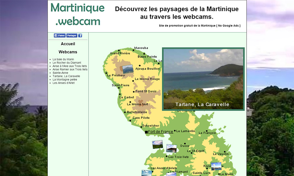 capture d'écran de www.martinique.webcam