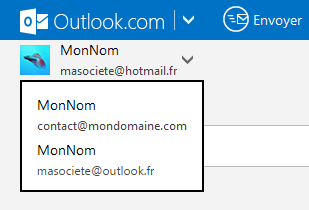 interface d'Outlook.com