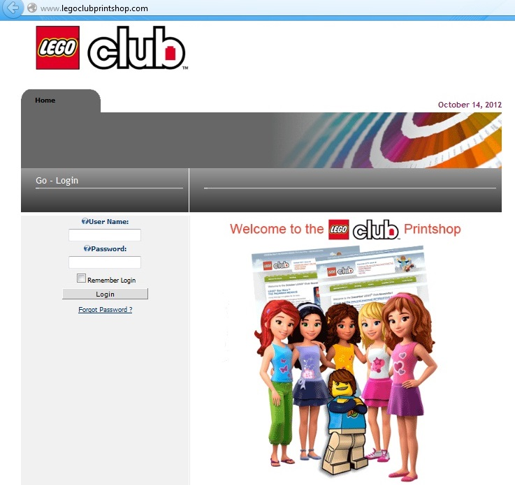 screenshot: example of cybersquatting: legoclubprintshop