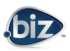 logo extension .BIZ (business)