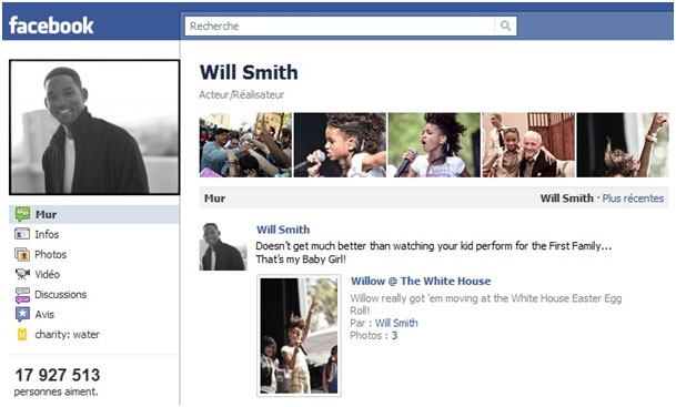 page facebook de Will Smith